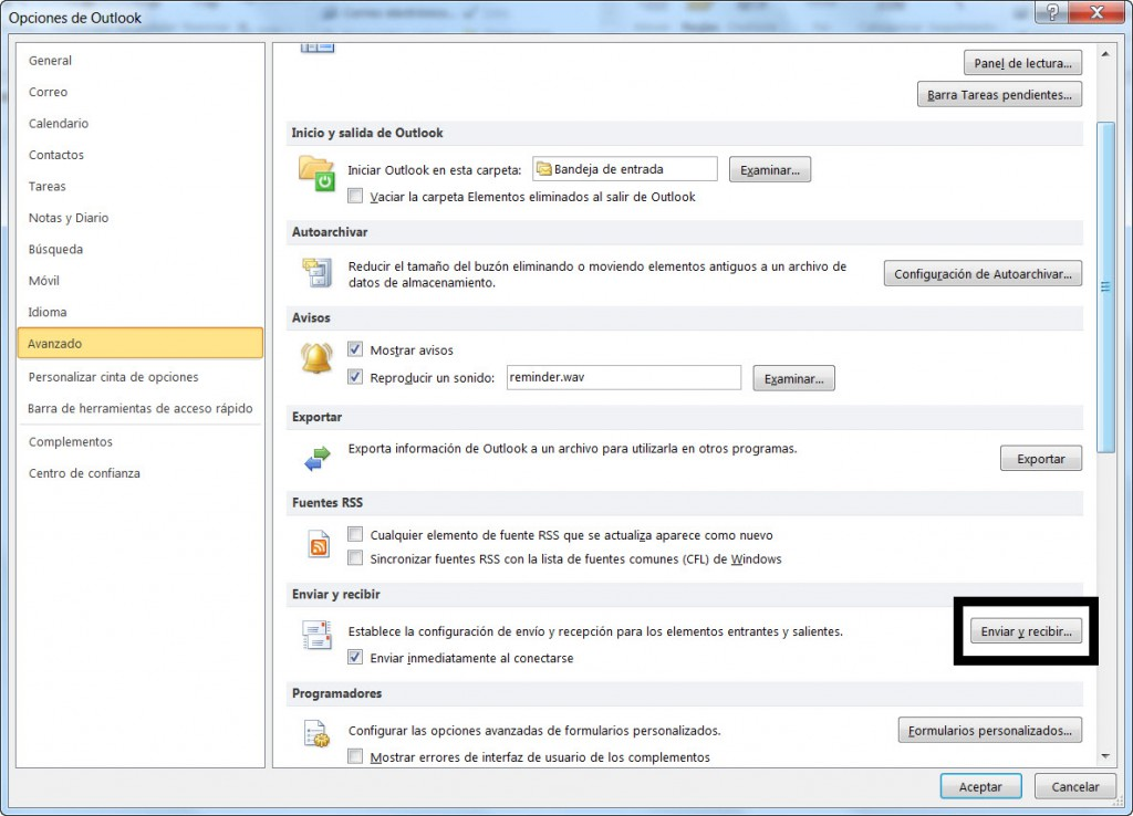 Configurar Outlook 2010