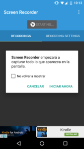 Ejemplo Lollipop Screen Recorder