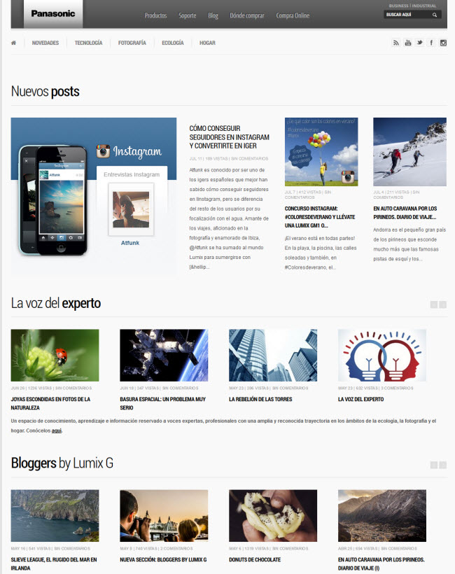 Panasonic blog corporativo